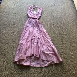 Misa Los Angeles Pink Striped Maxi Dress Size XS